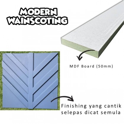 DIY Accent Wall / Modern Wainscoting