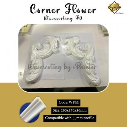 PU Wainscoting Corner Flower
