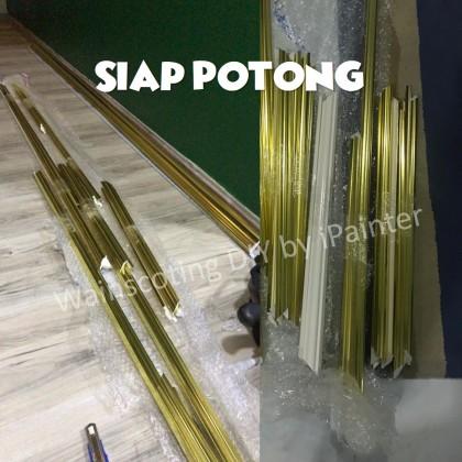 Set DIY Half Wainscoting Gold Chrome