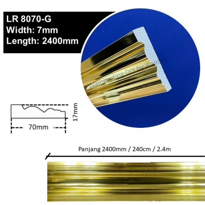 Gold Chrome Wainscoting 2400mm (PS)